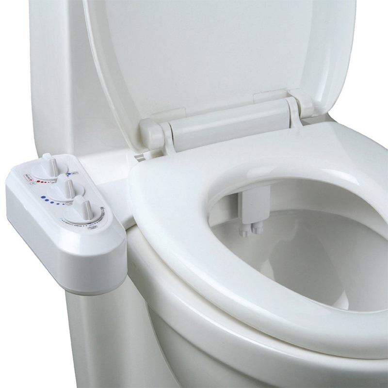 Self Cleaning Nozzle Mechanical Bidet Toilet Attachment