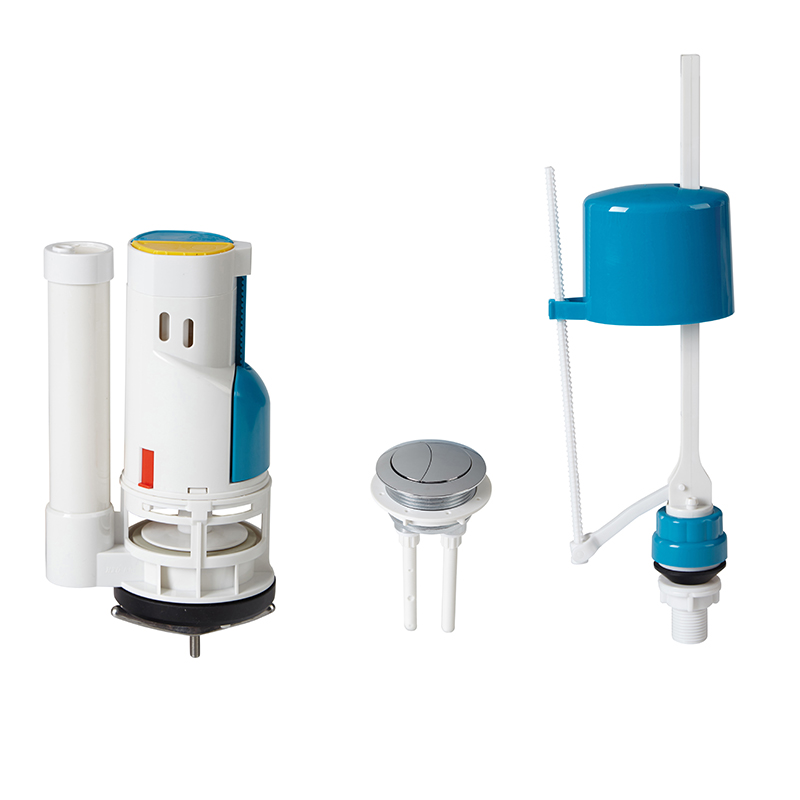 Toilet tank repair kits with adjustable anti-syphon design fill valve