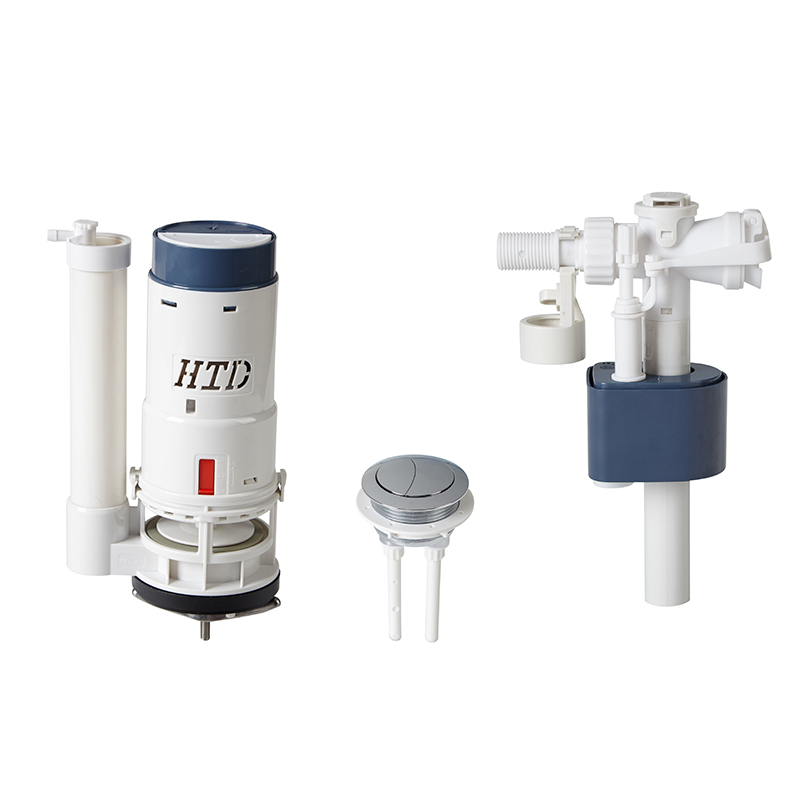Manual Operated Toilet Dual Flush Valve With Fixed Height Overflow Pipe
