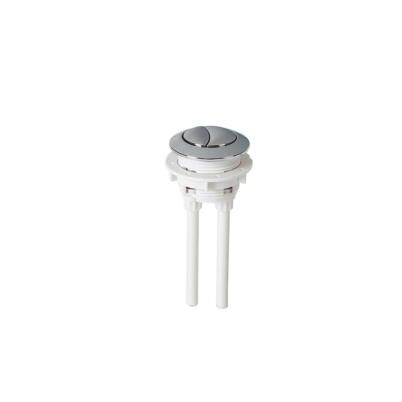 WC Toilet Dual Flush Assembly Chrome Push Button