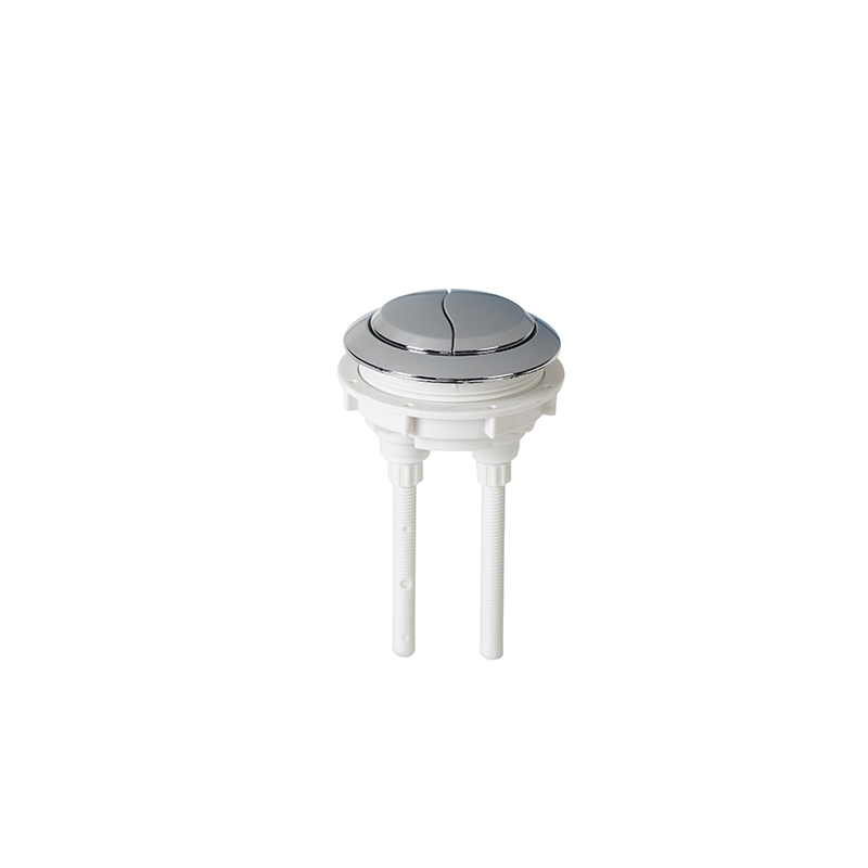 Replacement WC Cistern Chrome Button Dual Flush