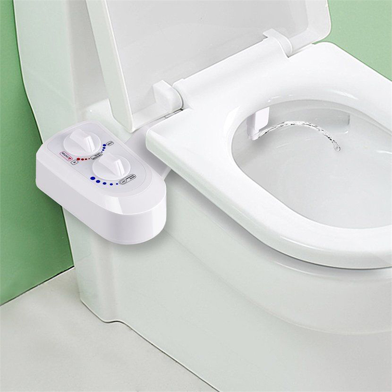 Fresh Water Non-Electric Mechanical Bidet Toilet Attachment