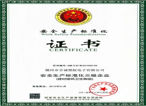 Safety Standardization Certificate