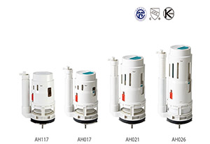 HTD-New Design Series AH Toilet Flush Valve Parts ABS Bathroom Replacements