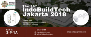 Join HTD Toilet Plumbing Parts in the 16th IndoBuildTech Jakarta 2018