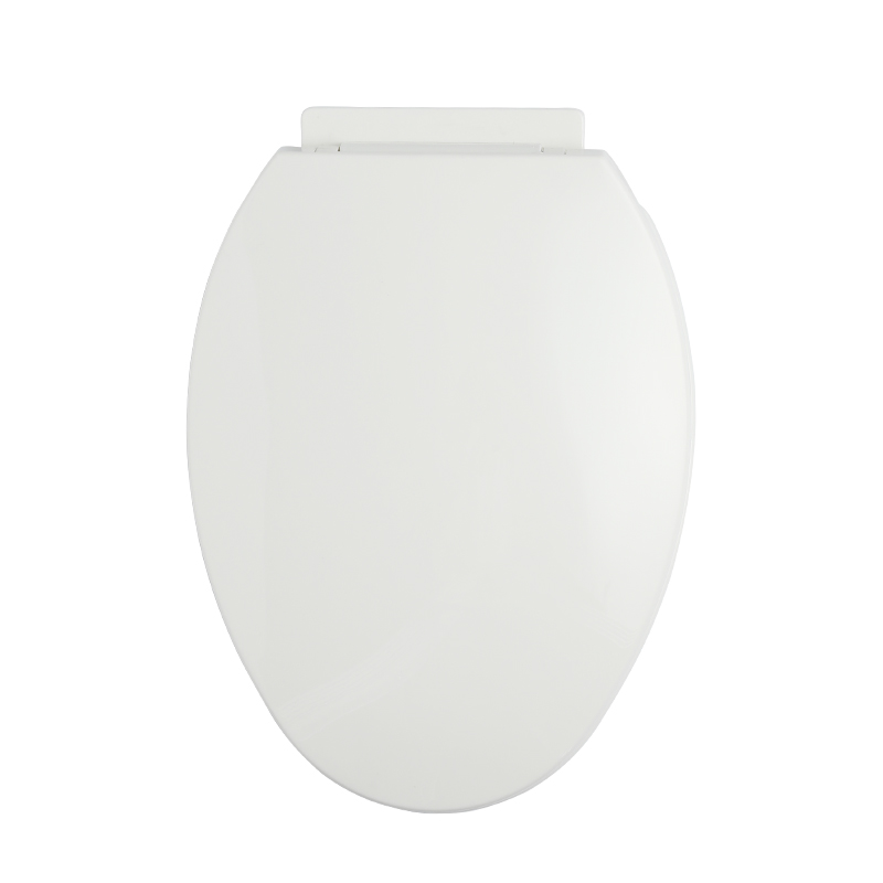 Elongated Soft Close Toilet Seat Cover PP White