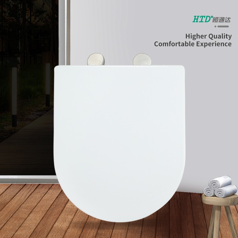 Fast Install U Shape White UF Seat Cover SS Hinge With Two Button