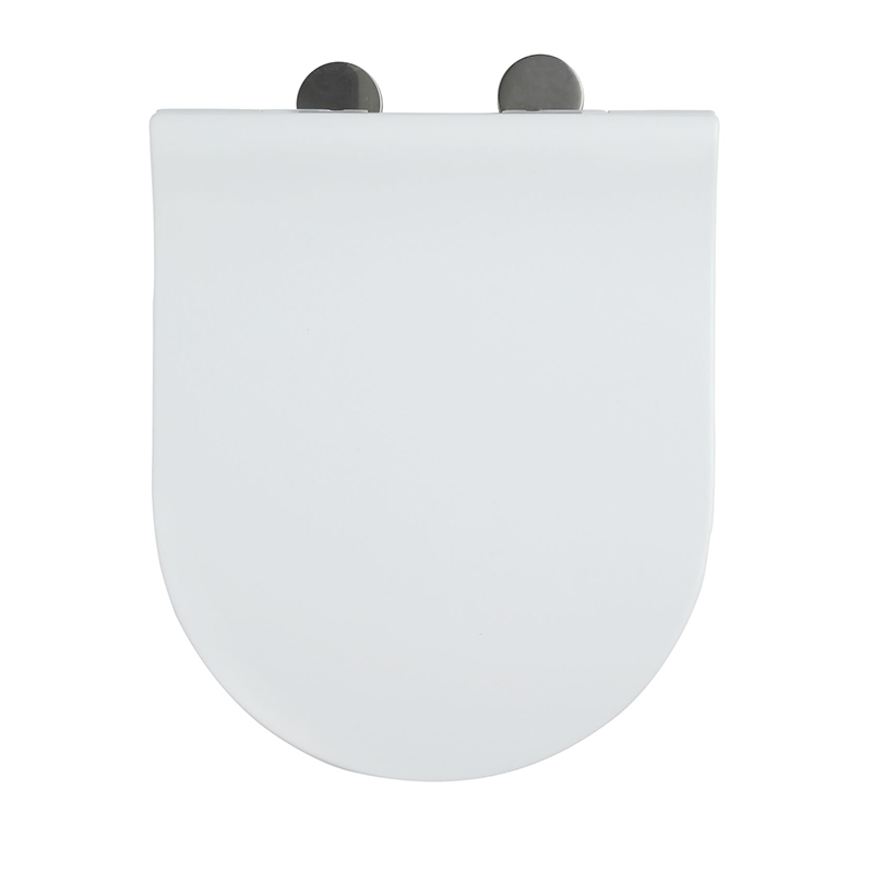 Fast Install SS Hinge With Two Button White UF Square Seat Cover