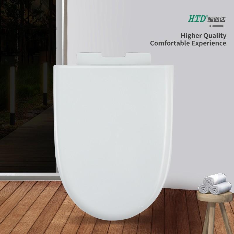 Toilet Cover U shape White Soft Close PP Seat