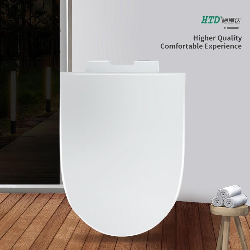 Toilet Cover U shape Soft Close PP Seat White