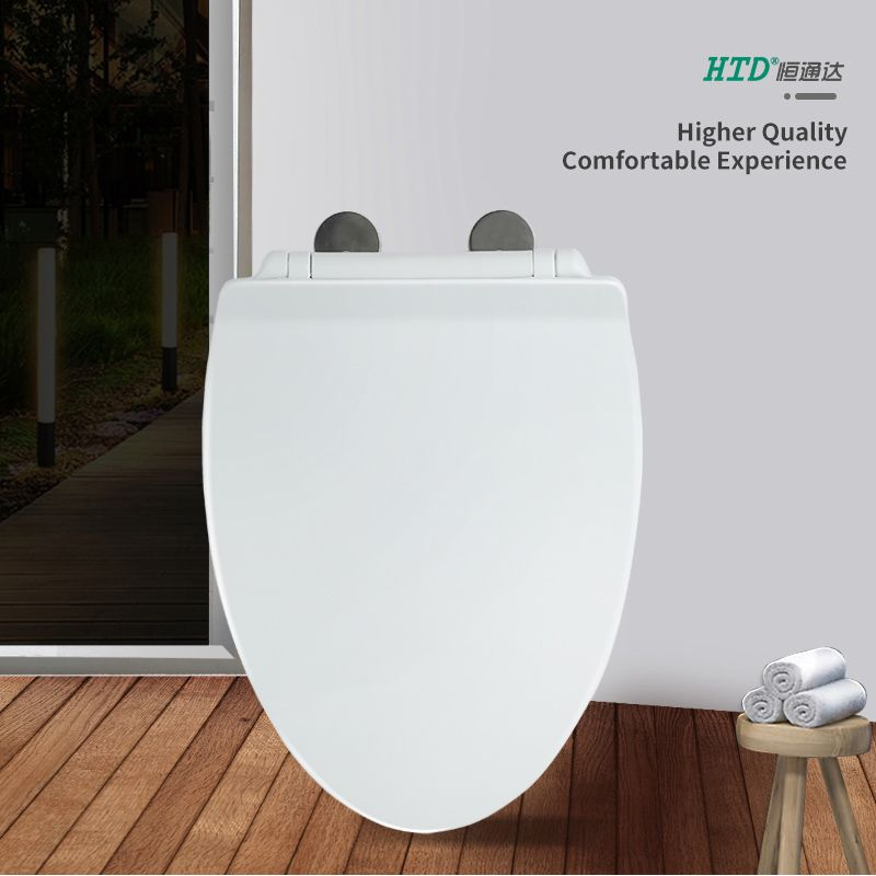 Toilet Seat Cover PP Elongated Soft Close Fast Install SS Hinge With One Button