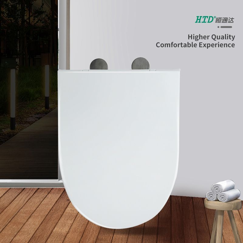 Elongated Toilet Seat Soft Close Fast Install SS Hinge With One Button