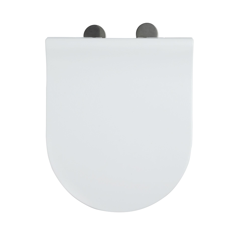 Fast Install U Shape White SS Hinge With Two Button UF Seat Cover